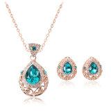 Juwelen van de Manier van de Halsband van de Oorring van de Tegenhanger van het Kristal van de Parel van het Bergkristal van Jewellry de Vastgestelde Vastgestelde