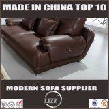 Sofá moderno de cuero genuino para la sala de estar Divany