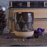 505ml si dirigono i supporti di candela di ceramica della decorazione con stampa geometrica del metallo