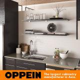 Gabinete de cozinha Matte cinzento moderno da melamina de Oppein (OP15-M12)