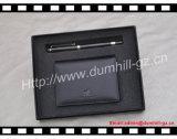 Le cadeau neuf chaud de cuir de promotion a placé avec le détenteur et le crayon lecteur de carte
