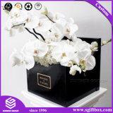 سوداء واسعة زهرة شحن ورق مقوّى علاوة عالة عالقة زهرة صندوق