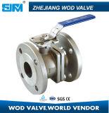 Aço inoxidável de duas partes de válvula de esfera de China do bom preço da fábrica