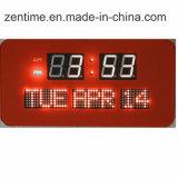 공장 가격에 있는 날짜를 보여주는 LED 디지털 벽시계