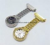 El mejor acero inoxidable cuida el reloj del Pin de la broche con Japón Movt