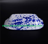 Piatto quadrato di ceramica del cassetto dell'alimento del piatto del padellame dello smalto (impostare)