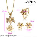 Moda Valentín de lujo situado en la flor de oro de 18 quilates chapado (60753)