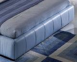 Neuer eleganter Entwurfs-modernes echtes Leder-Bett (HC328) für Schlafzimmer
