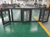 Power Coated Color Negro Aluminio Ventanas con doble acristalamiento