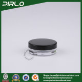 15g 0.5oz rimuovono il vaso cosmetico di figura piana di plastica con il nero chiudente nero del coperchio