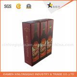 Cadre de papier de luxe estampé par usine de bouteille de vin de logo