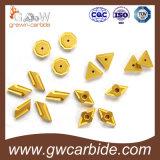 Вставки цементированного карбида Indexable поворачивая