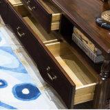 Cofre de gaveta de madeira de estilo americano para móveis de casa (AS817)