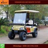 Тележка гольфа звероловства пассажира аттестации 4 Ce электрическая для села праздника