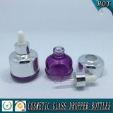 bouteille en verre cosmétique de compte-gouttes de 20ml 30 ml 40ml pour le pétrole