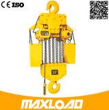 alzamiento de cadena eléctrico trifásico 15t con el gancho de leva