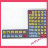 Touche à effleurement de clavier de recouvrement de tailles importantes de DEL