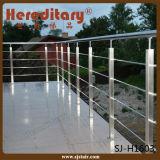 屋外の最上質の316ステンレス鋼ケーブルの柵手すりまたはワイヤーロープのデッキの柵か棒の手すりInox