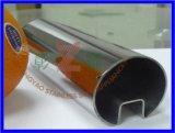 Buena barandilla de la escalera del tubo de acero de la venta con el vidrio