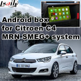 Interfaccia Android del sistema di percorso di GPS dell'automobile video per Citroen C4, C5, percorso di tocco di aggiornamento di C3-Xr (SISTEMA di MRN), WiFi, Mirrorlink, schermo del getto