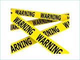 SGS TUVの証明の警告テープが付いている警告テープ