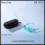 Heißer Verkauf der 600-700nm Lasersicherheits-Gläser für 635nm 650nm 694nm rote Laser, Rubin mit Spant 52