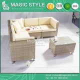 Conjunto de sofá de canto ao ar livre com almofada Sofá de carga de alta quantidade
