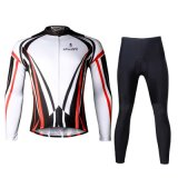 주문을 받아서 만들어진 자전거 또는 순환 저어지 + 바지 또는 Jersey+Tights/의류 세트 또는/빨리 모방되는 건조하고 Breathable/간단한 선 한 벌 남자의 긴 소매
