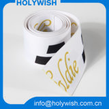حرارة إنتقال بيضاء شريط منسوج وشاح شريط مع بوليستر مادة
