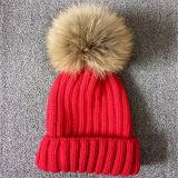 Sombreros de la piel POM Bobbl del mapache