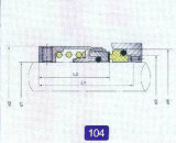 103 und 104 mechanische Dichtungen für Pumpe