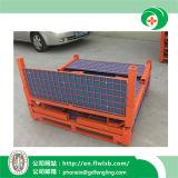Kundenspezifischer faltbarer Stahlbehälter für Lager mit Cer durch Forkfit