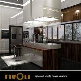 Modieuze Moderne Witte en Zwarte Schilderende Keukenkast met de Volledige Douane van het Huis voor Flat tivo-071VW