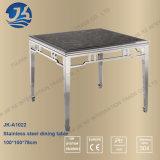 大理石の上が付いている中国人デザイン正方形の形のステンレス鋼のダイニングテーブル