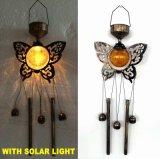 Mestiere illuminato solare di Windchime della libellula del metallo della decorazione del giardino della sfera di vetro