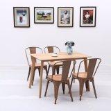 Cadeira quente do restaurante do café do metal da venda com parte superior de madeira (SP-CT766)