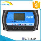 indicador de 30A 12V/24V LCD com o controlador solar da carga do USB para a bateria Rtd-30A do painel solar