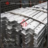 Tablón de acero del andamio del tablón del metal de la construcción usado para la plataforma de funcionamiento