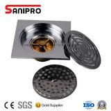 Filtro de bronze do dreno de assoalho da alta qualidade do banheiro e da cozinha de Sanipro