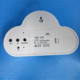 USB 재충전용 파란 구름 LED 자명종 소리 통제
