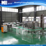 A fabricação faz à máquina a água mineral que enche e que engarrafa á Z