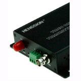 1チャネルのビデオ及び1つの逆RS485データファイバーの送信機