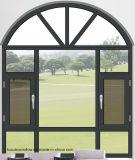 Openslaand raam van het Aluminium van het Glas van de Prijs van Filippijnen het Dubbel Aangemaakte Franse