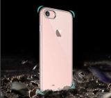 iPhoneのための超薄い透過明確で柔らかいゲルTPUの電話箱7 6s