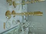 De metaal Gouden Houder van de Kaars van het Glas van de Kleur met Enige Affiche