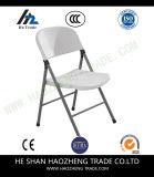 Silla de plegamiento de la resina plástica Hzpc020 (asiento/posterior grises con el capítulo gris)