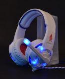 7.1 Cuffia avricolare blu di gioco di colore LED di bordi della Manica con la vibrazione