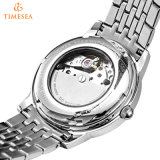 Relojes mecánicos Silver-Tone 72476 del acero inoxidable de la manera de los hombres