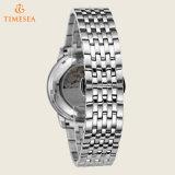 Relógios mecânicos Silver-Tone 72476 do aço inoxidável da forma dos homens