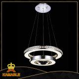 Luz pendiente inoxidable cristalina del acero LED de la decoración moderna del comedor (KA10107-D600+400D)